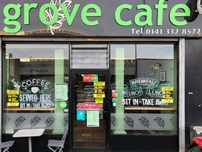 The Grove Cafe Leasehold on offer – Profitable Café located in Maryhill
