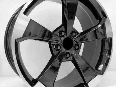 Audi A5 A7 A8 Q5 SQ5 Black x4 20″ RS3 2019 Style Alloy Wheels 9J Et25