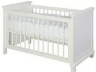 Kidsmill Shakery nursery furniture cot bed off white cream