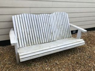 Adirondak style garden bench. Hand made