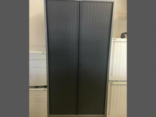 garage Metal storage cupboard with a key