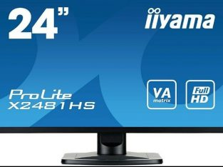 24″ Full HD 1920 x 1080p Monitors, IIYAMA X2481HS, 2 available!