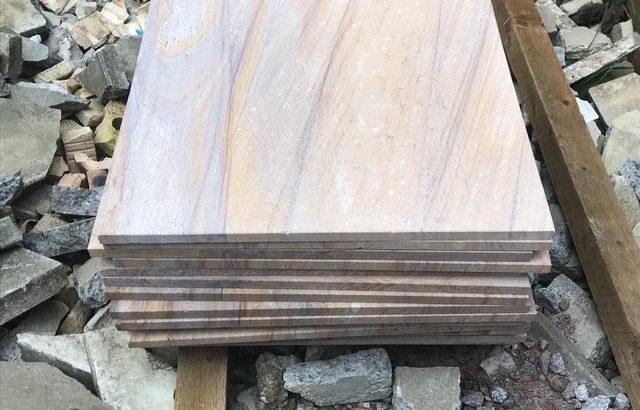 Rainbow Indian sandstone slabs £450 ono