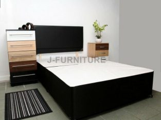 Divan Bed, Double, Single, 9 Inch Quality ortho, Mattress, king size, black headboard, full set..