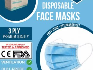 *URGENT CLEARANCE*Disposable Premium Face Masks|BOX=50 Masks | 3 Ply Non-Surgical Mouth Guard Cover