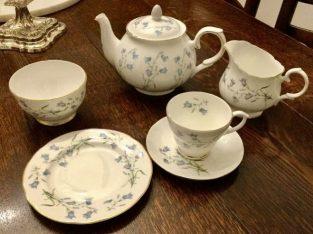 Vintage Bluebell Bone china Tea set