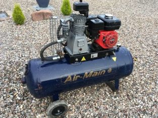 Petrol Driven Air Compressor, £350