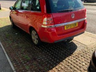 Vauxhall, ZAFIRA, MPV, 2013, Manual, 1598 (cc), 5 doors