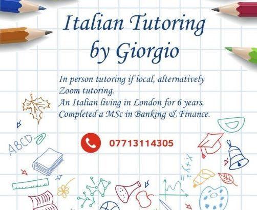 Italian tutoring