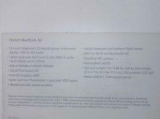 Apple MacBook Air 2017 model