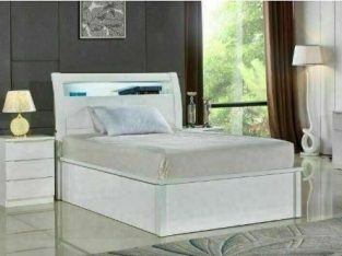 🤩👑 FACTORY SALE ON HUGE STORAGE WOODEN BEDS WITH LIGHTS & USB CHARGING PORT SINGLE DOUBLE KING