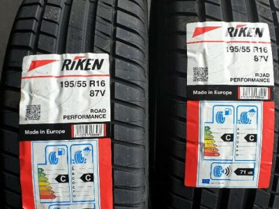 195 55 16 87V 2 x tyres Riken Road Performance NEW!