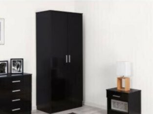 3 Parts Wardrobe Set Black