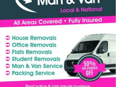 £20p/h Removal Services, Last Minute Man & Van