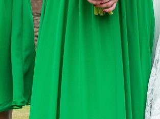 Size 8, halter neck, green bridesmaid dress, Alfred Angelo Offers