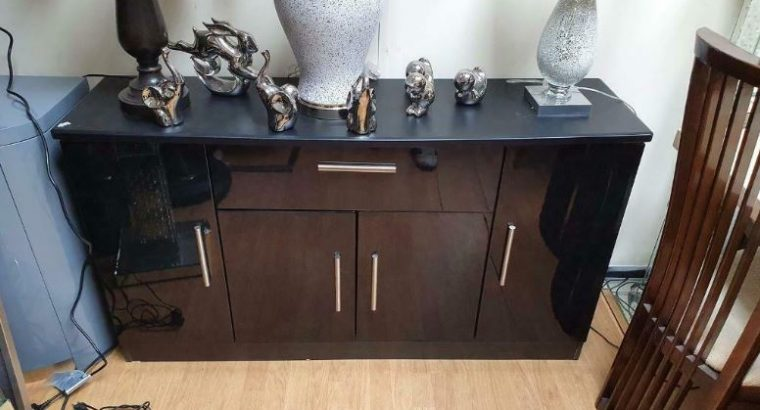 For sale One Drawer Sideboard Black High Gloss Four Door